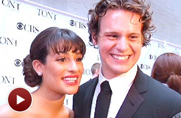 Lea Michele and Jonathan Groff Get Cute on the Tony Red Carpet