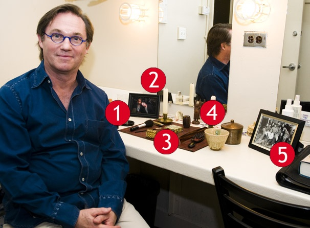 Race's Richard Thomas Shows Off His Keepsake-Filled Dressing Room