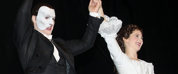 It's a Majestic Welcome for Incoming Phantom Stars Hugh Panaro and Sara Jean Ford