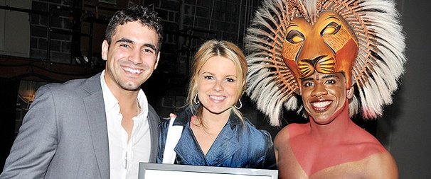 The Bachelorette's Newly Engaged Couple Shares Their Love at The Lion King