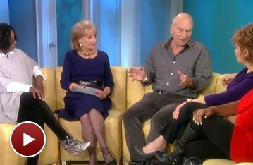 A Life in the Theatre's Patrick Stewart Chats About 'Testicularity,' Knighthood and Star Trek on The View
