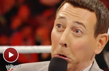 Pee-wee Herman Steps Inside the Wrestling Ring for WWE Raw