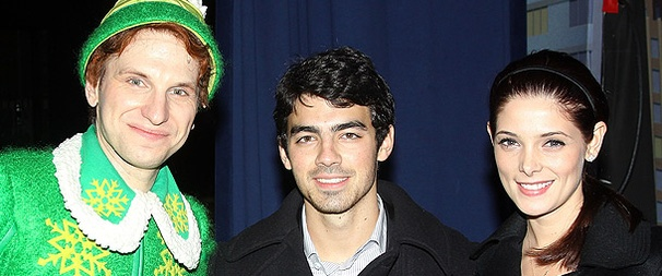 Joe Jonas and  Twilight Star Ashley Greene Have a Holly Jolly Time at Elf!