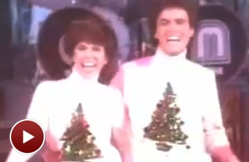 Broadway Holiday Flashback! Donny and Marie Osmond Rock Around the Christmas Tree