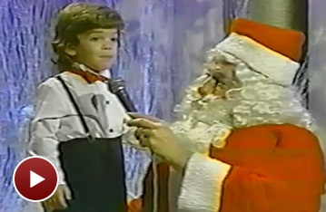 Broadway Holiday Flashback! Long Before Jersey Boys, Three-Year-Old Jarrod Spector Sings 'Frosty the Snowman'