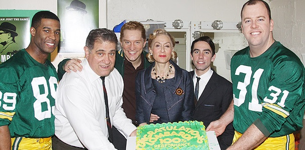 The Cast of Lombardi Celebrates a Winning 100th Performance 