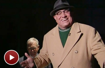 Lombardi's Dan Lauria Coaches David Letterman on Late Show