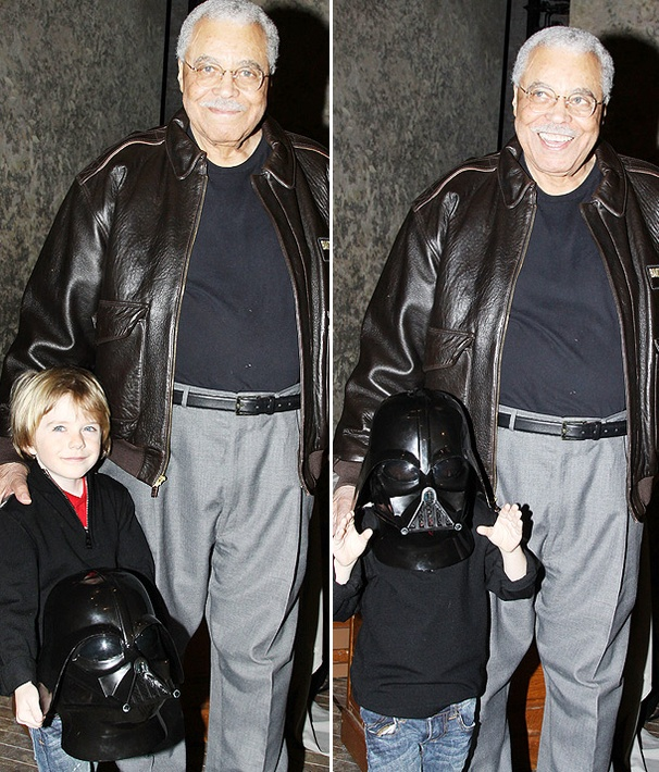 Super Bowl's Mini Darth Vader Meets James Earl Jones at Driving Miss Daisy