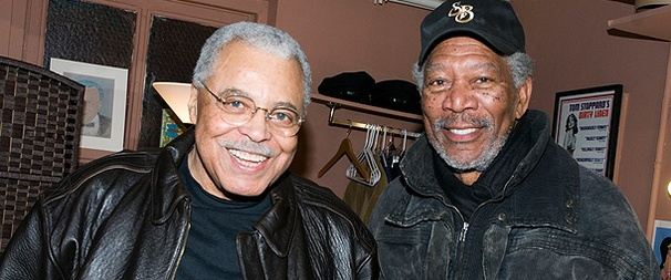 Daisy Déjà Vu! Original Driving Miss Daisy Star Morgan Freeman Visits James Earl Jones & Co. on Broadway