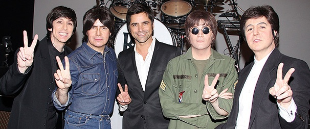 John Stamos Buddies Up with the Beatles Backstage at Rain