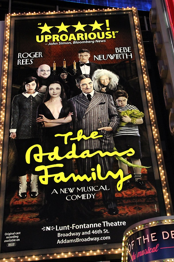 A New Gomez! Roger Rees Unveils His Addams Family Get-Up in Times Square