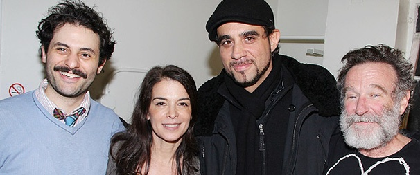 Motherf**ker Pals Bobby Cannavale and Annabella Sciorra Visit Robin Williams at Baghdad Zoo