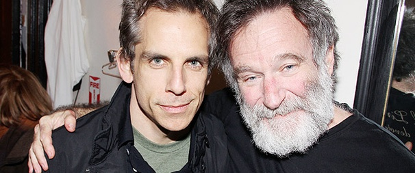 Museum Buddies Ben Stiller and Robin Williams Pal Around at Baghdad Zoo