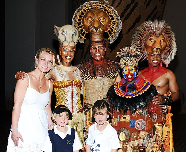 Britney Spears and Sons Roar Into Las Vegas Lion King