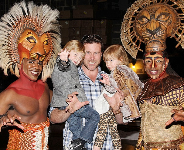 Reality Star Dean McDermott & Kids Meet the Animal Crew at The Lion King