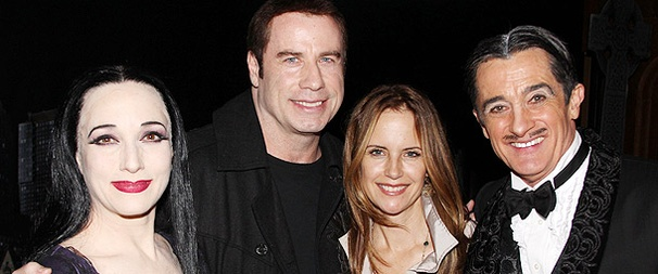John Travolta and Kelly Preston Have a Kooky Time at The Addams Family