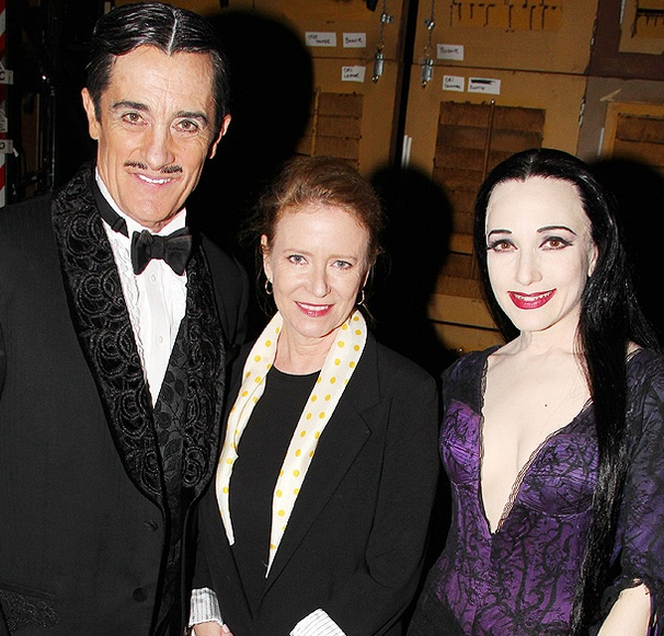 Miss Abigail's Relationship Expert Eve Plumb Checks Up on The Addams Family's Roger Rees and Bebe Neuwirth