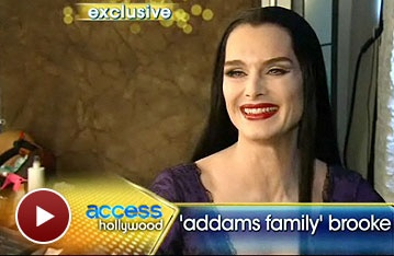 Brooke Shields Shows off Her Sexy Morticia Makeover For The Addams Family on Access Hollywood