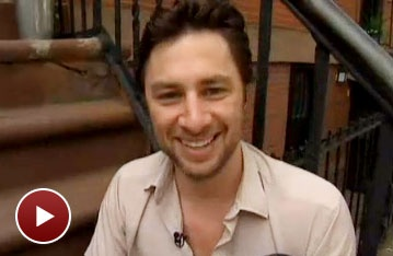 Watch Zach Braff Stop By NBC's Talk Stoop to Talk Up New Play All New People