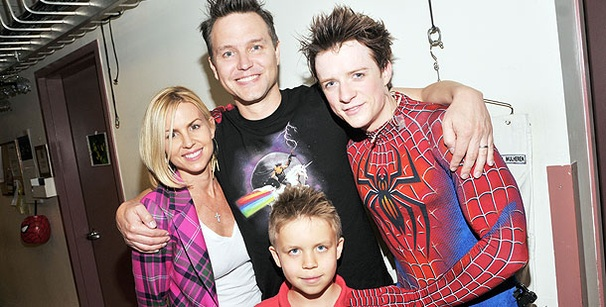 Blink 182's Mark Hoppus Rocks Out at Spider-Man, Turn Off the Dark