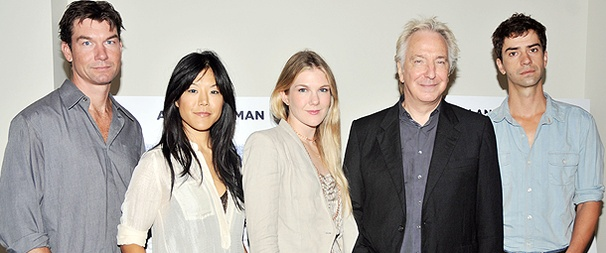 Alan Rickman Calls Class Into Session at Press Event for Seminar