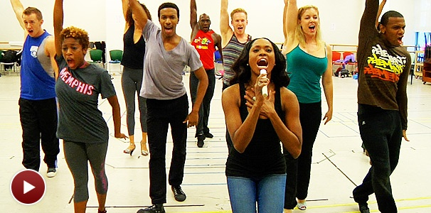 Watch the Stars of the National Tour of Memphis Perform Rockin' Numbers in Rehearsal