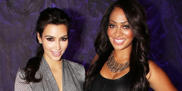 Keep Up with Kim Kardashian as She Visits La La Anthony at Love, Loss and What I Wore