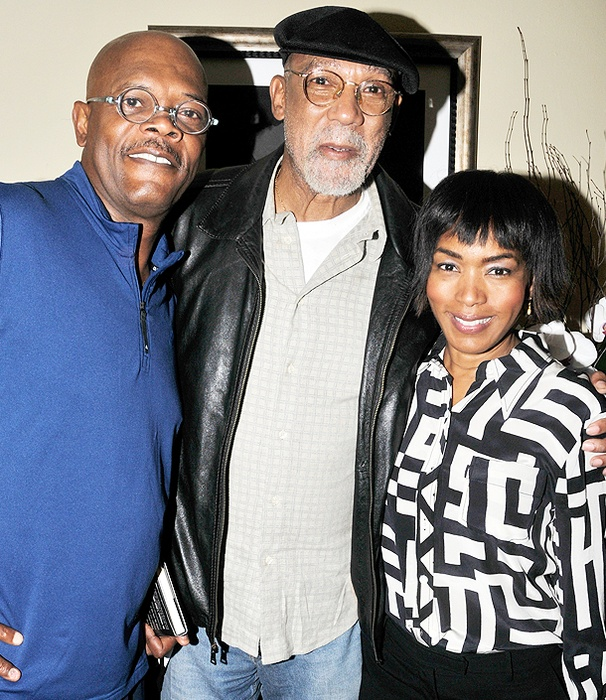 Olympic Medalist and Political Activist John Carlos Salutes Samuel L. Jackson and Angela Bassett at The Mountaintop