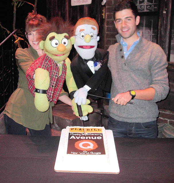 The Avenue Q Puppet Crew Celebrates Two Years at Off-Broadway's New World Stages