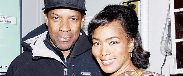 Denzel Washington Travels to The Mountaintop to See Stars Samuel L. Jackson and Angela Bassett