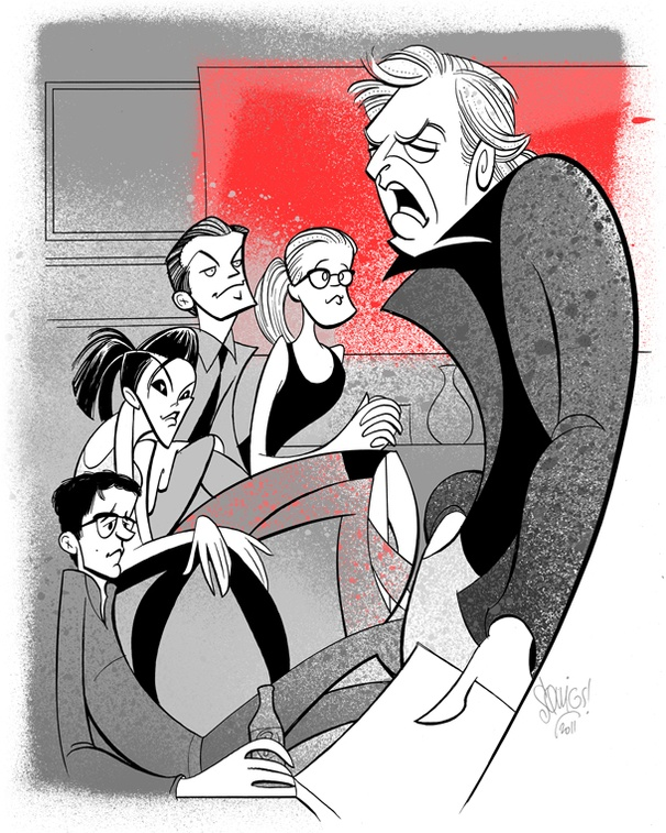 Squigs Pulls Up a Desk at Seminar, Starring Alan Rickman