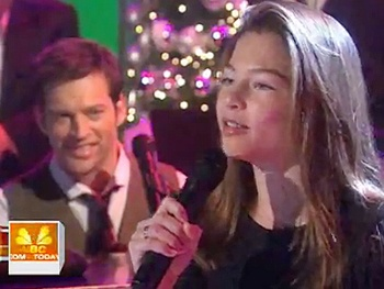 Broadway Holiday Flashback! On a Clear Day's Harry Connick Jr. and Daughter Go Walking in a 'Winter Wonderland'