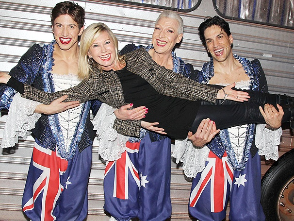 Aussies Unite! Tony Sheldon and Cast Welcome Olivia Newton-John to Priscilla Queen of the Desert