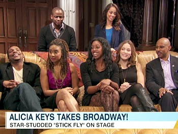 Tracie Thoms & Her Stick Fly Co-Stars Sing-Along to the Music of Alicia Keys on ABC News 