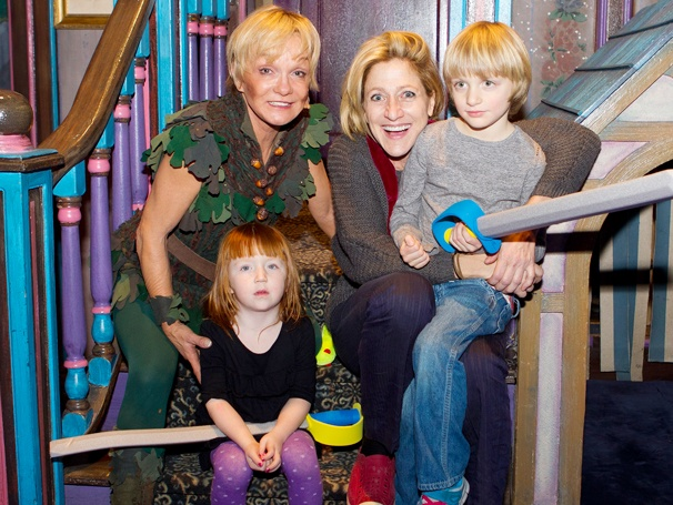 Cathy Rigby Welcomes Edie Falco and Her Kids to Peter Pan