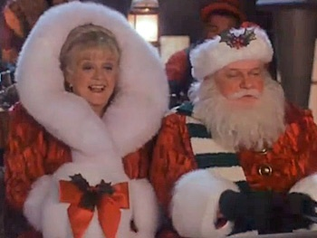 Broadway Holiday Flashback! Angela Lansbury Goes for a Magical Sleigh Ride as Mrs. Santa Claus