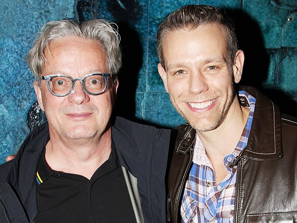 Devo's Mark Mothersbaugh Shows Big Love to Adam Pascal Backstage at Memphis