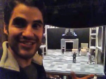Watch Glee Star Darren Criss Get Psyched Up at How to Succeed Rehearsal