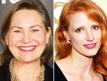 Heiress Tony Winner Cherry Jones 'Can't Wait' to Pass the Torch to The Help's Jessica Chastain