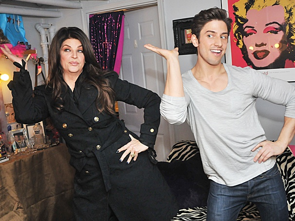 Kirstie Alley Gets a Disco Lesson from Priscilla Star Nick Adams