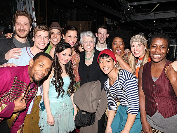 Angela Lansbury Makes a Heavenly Backstage Visit at Godspell