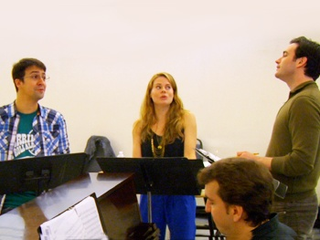 Inside Merrily We Roll Along Rehearsal with Colin Donnell, Lin-Manuel Miranda and Celia Keenan-Bolger