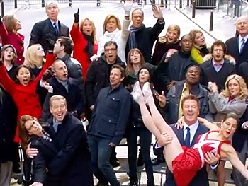 Alec Baldwin Leads 100 NBC Stars in How to Succeed Anthem 'Brotherhood of Man'
