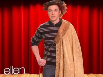 Watch Big Bang Theory Star Jim Parsons Prep for Broadway's Harvey on Ellen