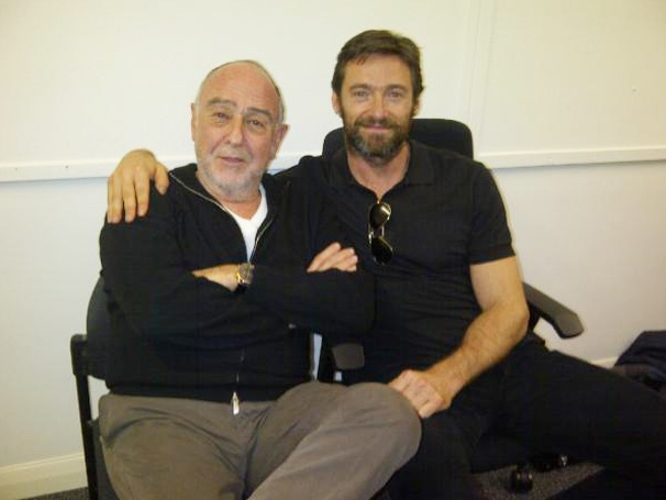 A Bearded Hugh Jackman Heads to Work on Les Miserables Movie