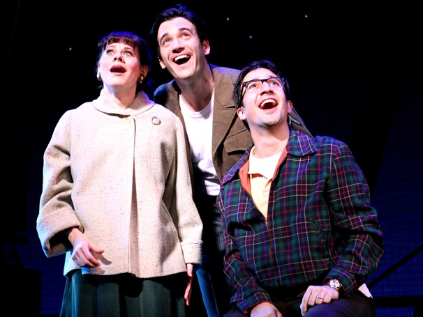 Our Time: First Look at Lin-Manuel Miranda, Colin Donnell and Celia Keenan-Bolger in Merrily We Roll Along