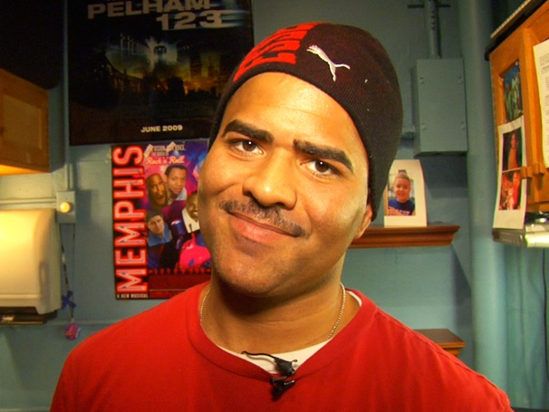 Christopher Jackson Shows Off His Sesame Street Cred and Autographed Baseball Backstage at Memphis 