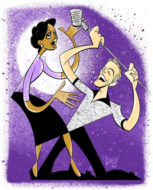Squigs Soulfully Sketches the Big Love of Adam Pascal and Montego Glover in Memphis