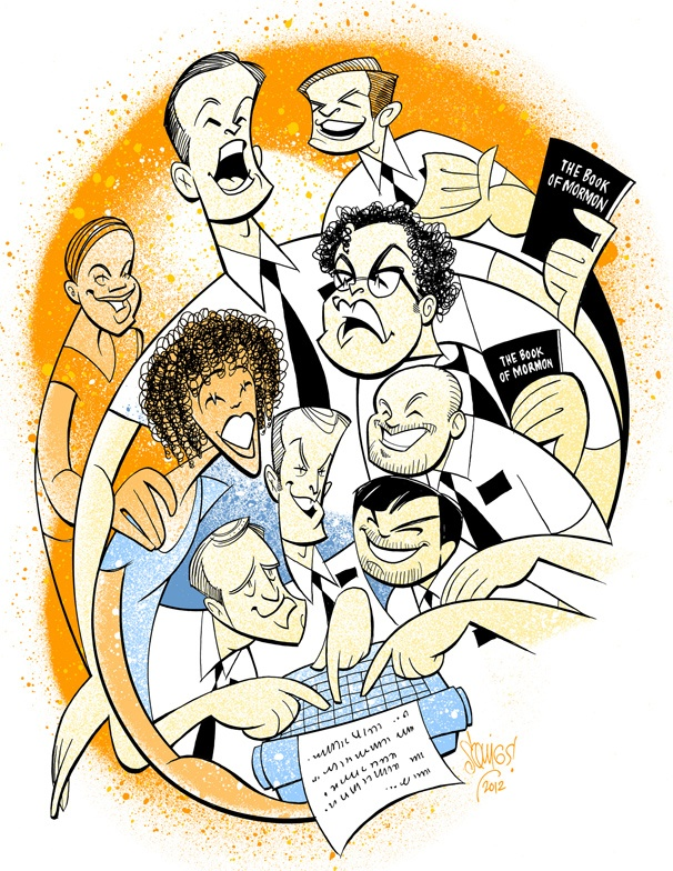 Celebrate a Year of Laughs with an All-New Book of Mormon Squigs Sketch