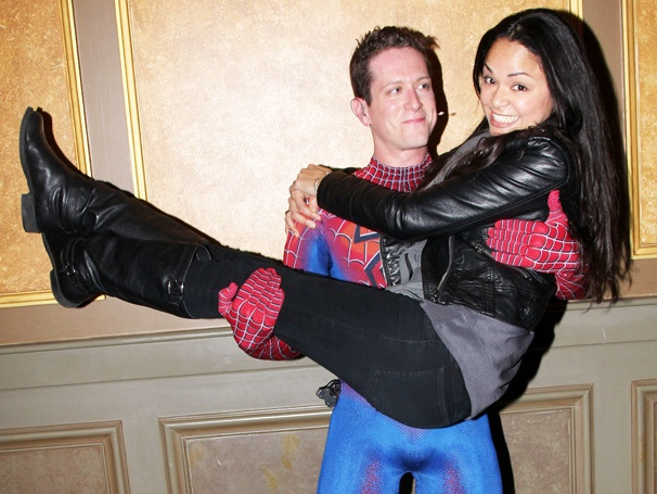 Tony Winner Karen Olivo Checks Out Hubby Matt Caplan in Spider-Man Title Role